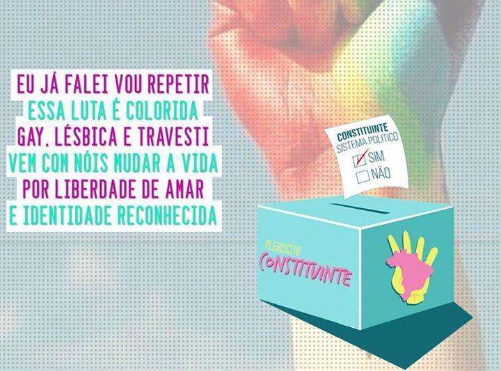 Nenhum direito LGBT a menos! #ForaEduardoCunha Para LGBT avançar, Constituinte Já!