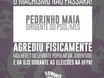 NOTA DE REPÚDIO AO AGRESSOR PEDRINHO MAIA DO PSOL/MES