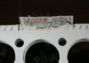 Intervenção realizada nos Arcos da Lapa - RJ
