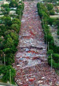 Manifestação do 1º de maio em Cuba