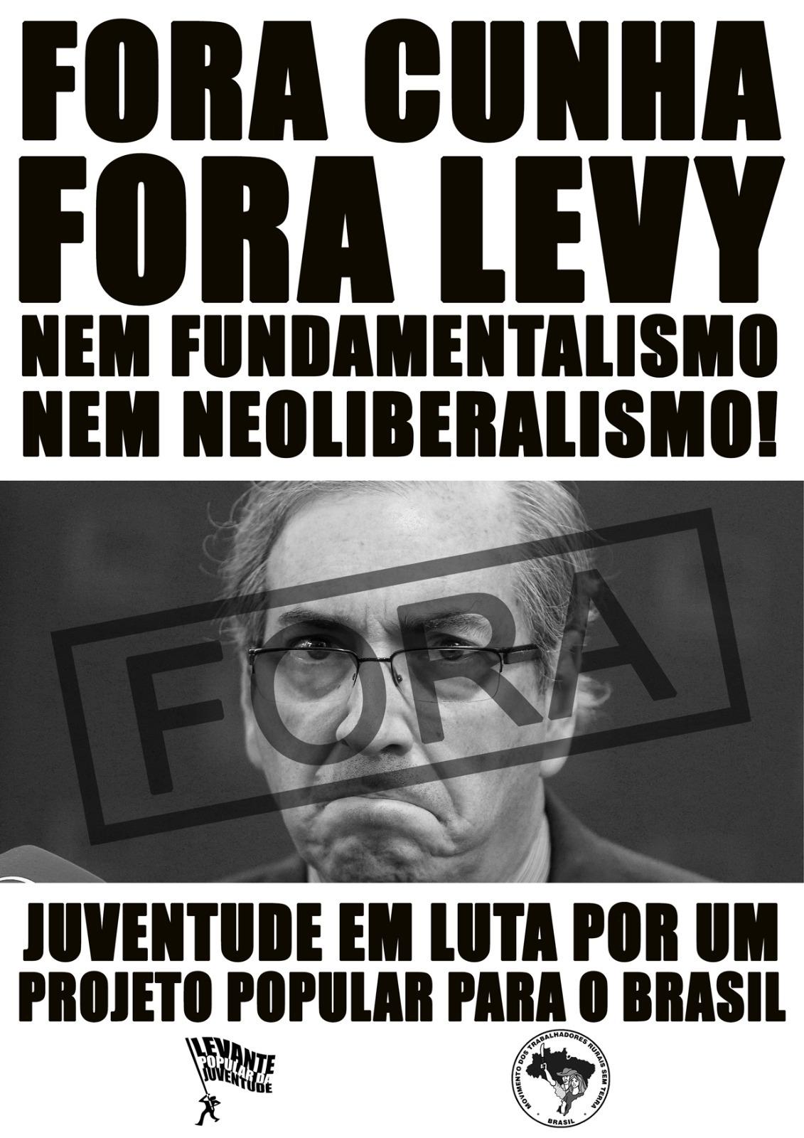 Cunha é escrachado pela juventude em Brasília