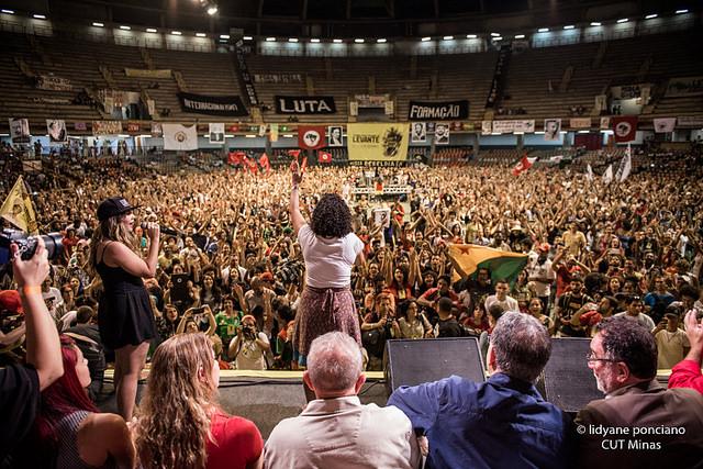 Em ato do Levante da Juventude, forças políticas reafirmam luta pela democracia