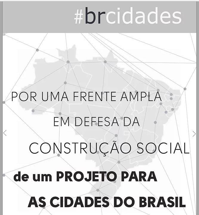 #brcidades: UM PROJETO PARA AS CIDADES DO BRASIL