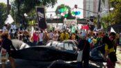 Jovens trancam avenida no Rio contra redução da maioridade penal