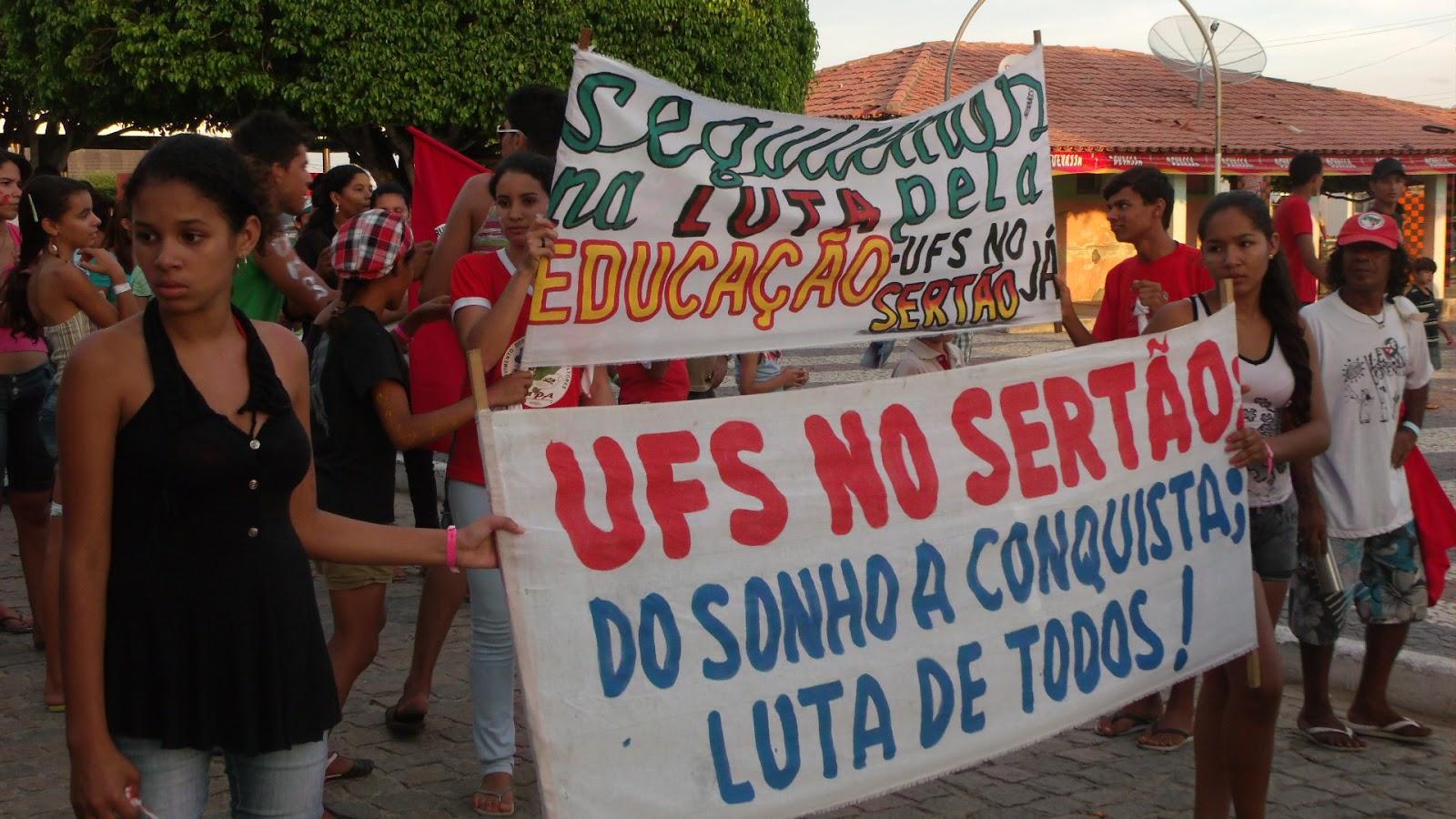 A Juventude do Alto Sertão Sergipano reafirma a luta para o campus da UFS no Sertão