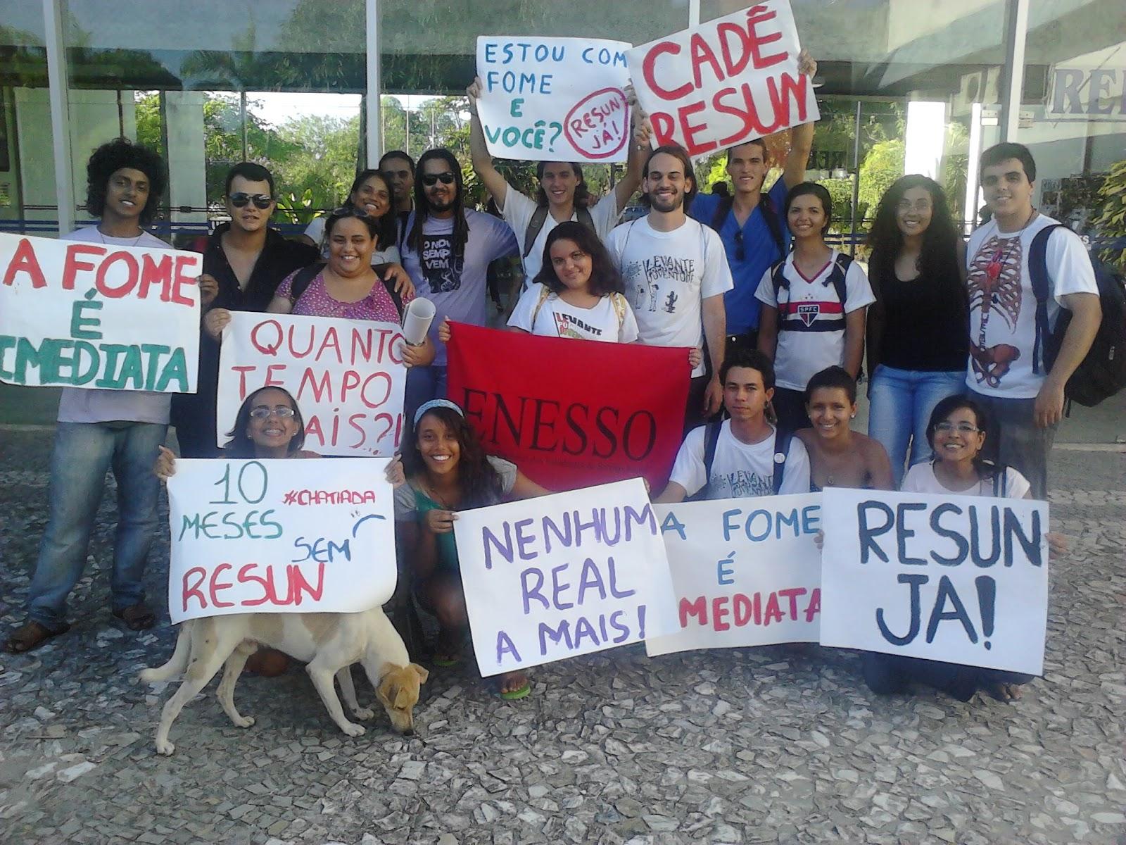 Levante participa da luta pela volta do RESUN na UFS